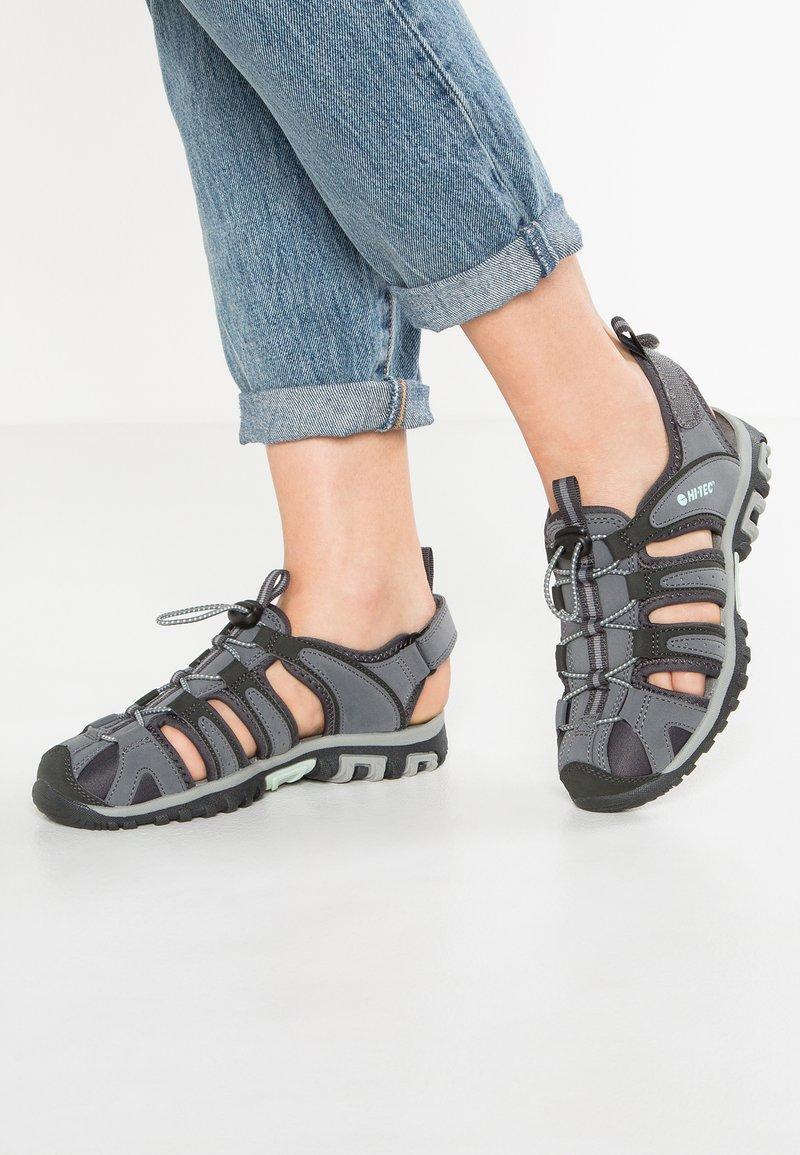 Hi-Tec - COVE  - Walking sandals - grey/charcoal/sprout