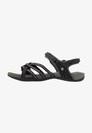 SAVANNA II  - Walking sandals - black/charcoal