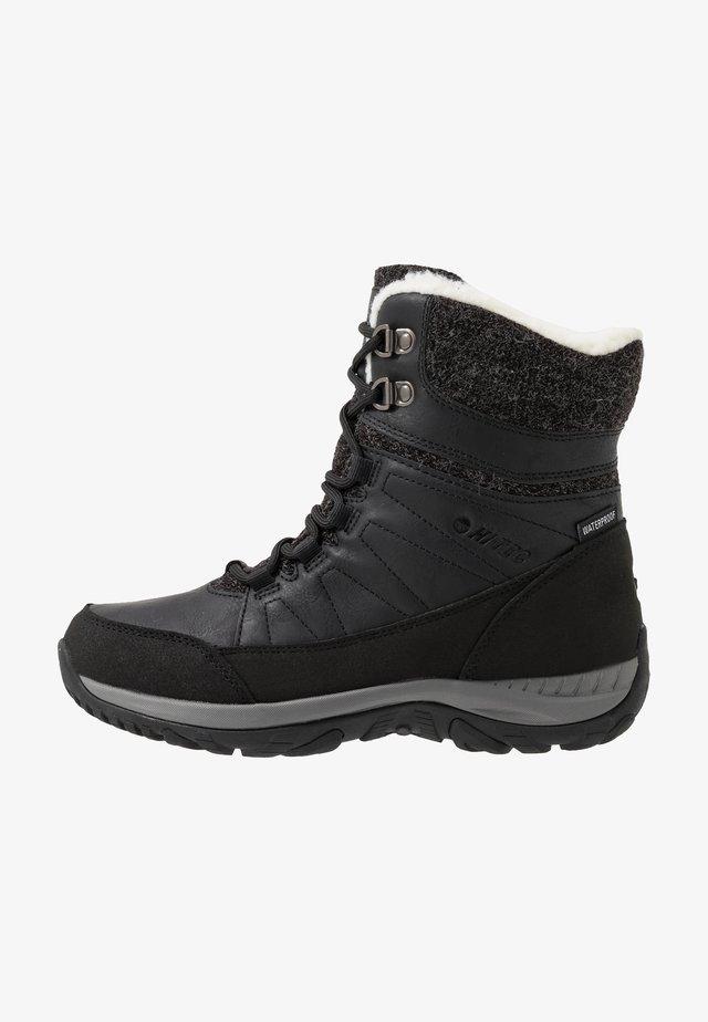 RIVA MID WP - Snowboots  - black