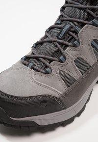 Hi-Tec - BANDERA LITE MID WP - Hiking shoes - charcoal/grey/goblin blue - 5