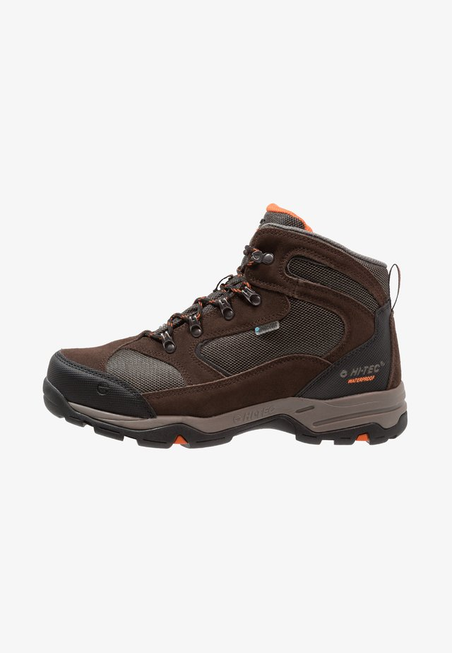 STORM WP - Fjellsko - dark chocolate/dark taupe/burnt orange