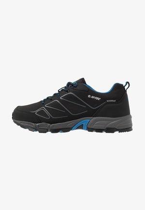 RIPPER LOW WP - Hiking shoes - black/lake blue
