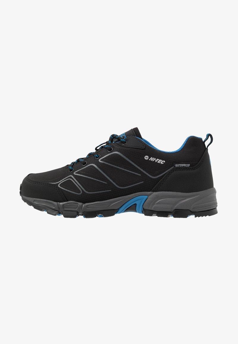 Hi-Tec - RIPPER LOW WP - Obuwie hikingowe - black/lake blue