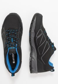 Hi-Tec - RIPPER LOW WP - Obuwie hikingowe - black/lake blue - 1