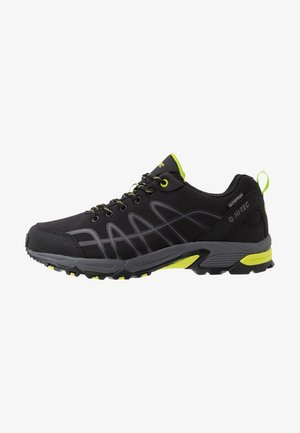 CORVUS LOW WP - Zapatillas de senderismo - black/limoncello