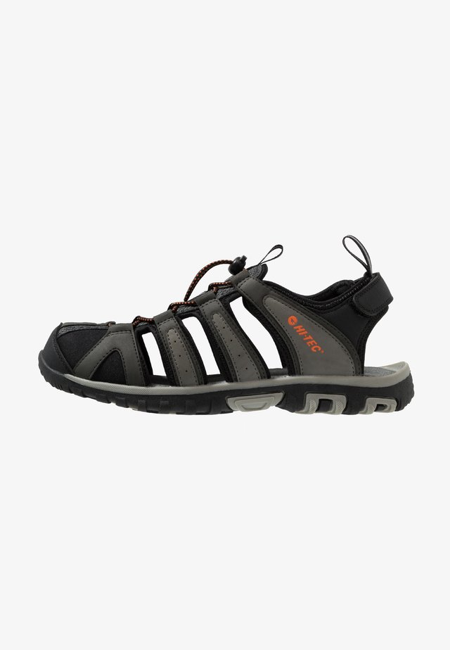 COVE BREEZE - Chodecké sandály - charcoal/cool grey/black/red orange