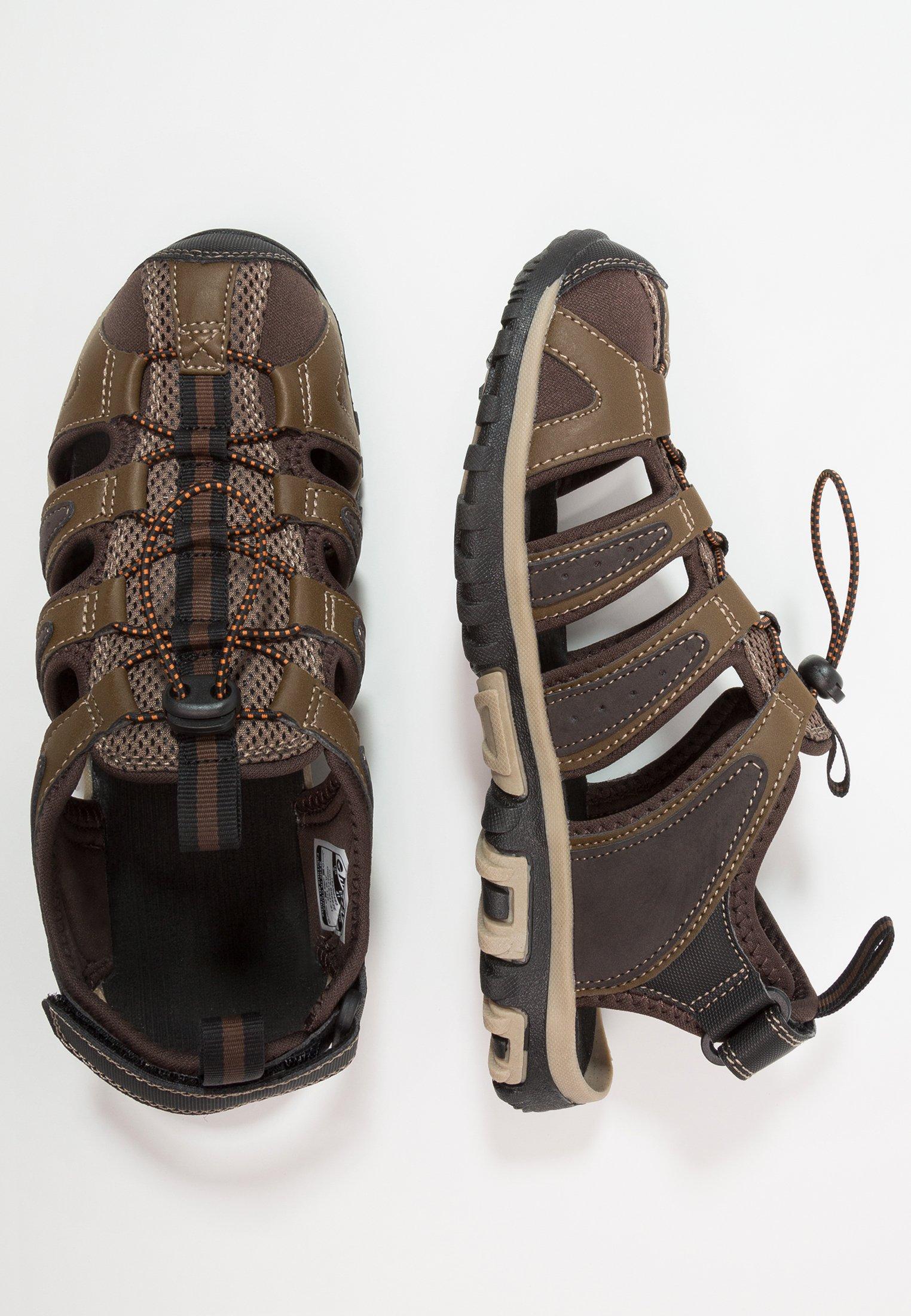 Hi-Tec COVE BREEZE - Sandały trekkingowe - chocolate/brown/burnt orange/multicolor