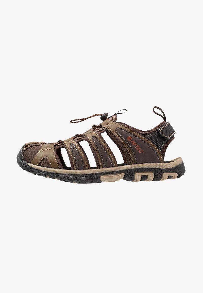 Hi-Tec - COVE BREEZE - Walking sandals - chocolate/brown/burnt orange/multicolor