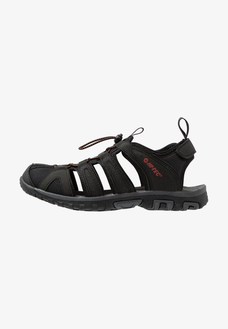 Hi-Tec - COVE BREEZE - Walking sandals - black/picante