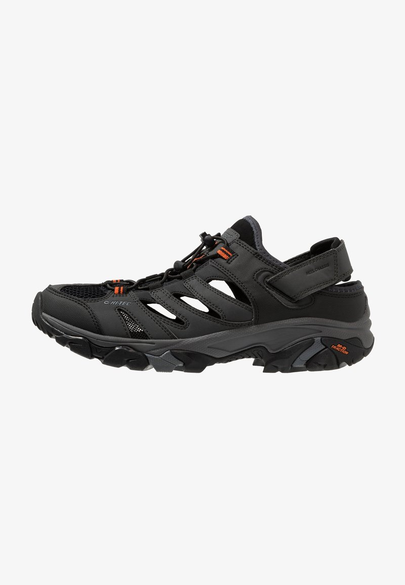 Hi-Tec - RAVUS STRIKE - Chodecké sandály - charcoal/black/red orange
