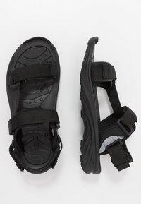 Hi-Tec - ULA RAFT - Chodecké sandály - black/charcoal - 1