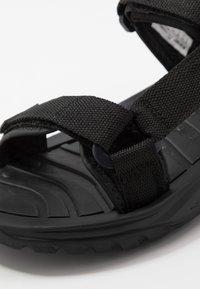 Hi-Tec - ULA RAFT - Chodecké sandály - black/charcoal - 5