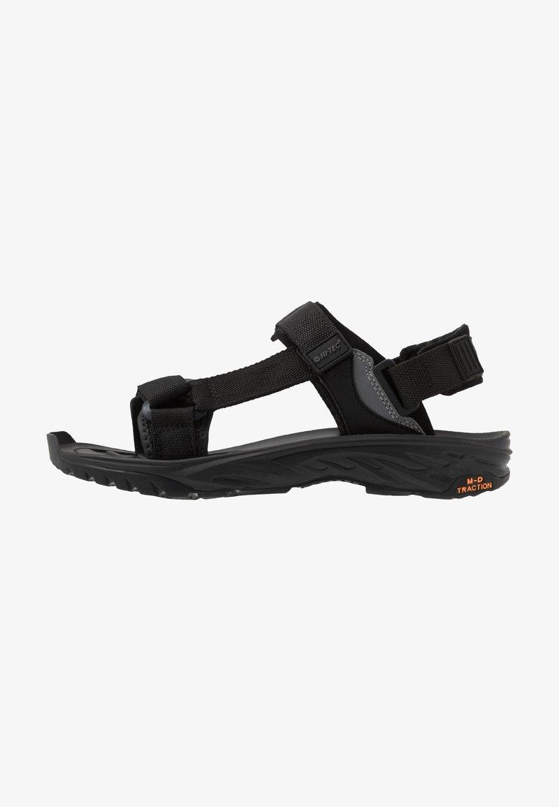 Hi-Tec - ULA RAFT - Chodecké sandály - black/charcoal