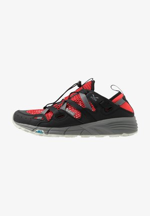 V-LITE RAPID - Hiking shoes - zingy red/cool grey/black