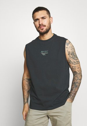 MADDOX - Print T-shirt - washed black