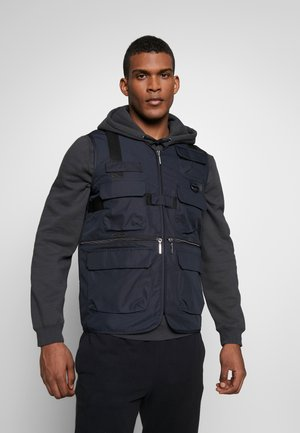 DENZER - Waistcoat - black
