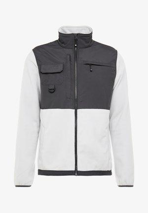 KIKER - Fleece jacket - quiet grey melange/gunmetal