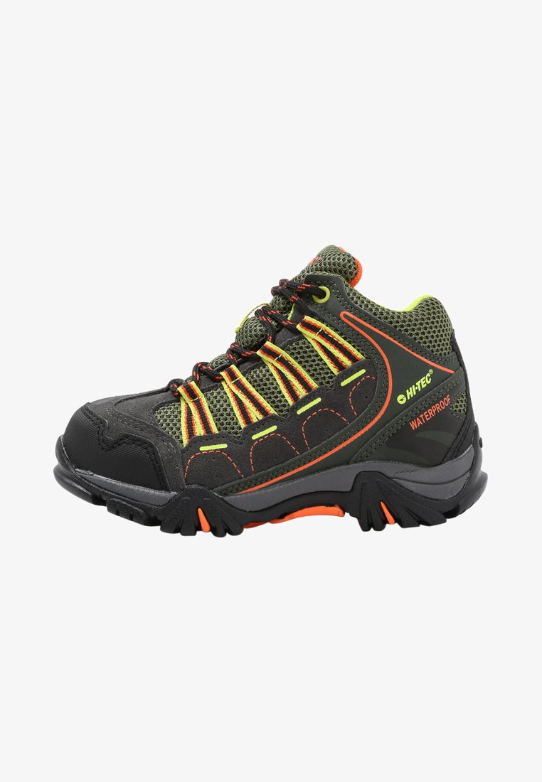 Hi-Tec - FORZA MID WP - Obuwie hikingowe - charcoal/garden green/red orange