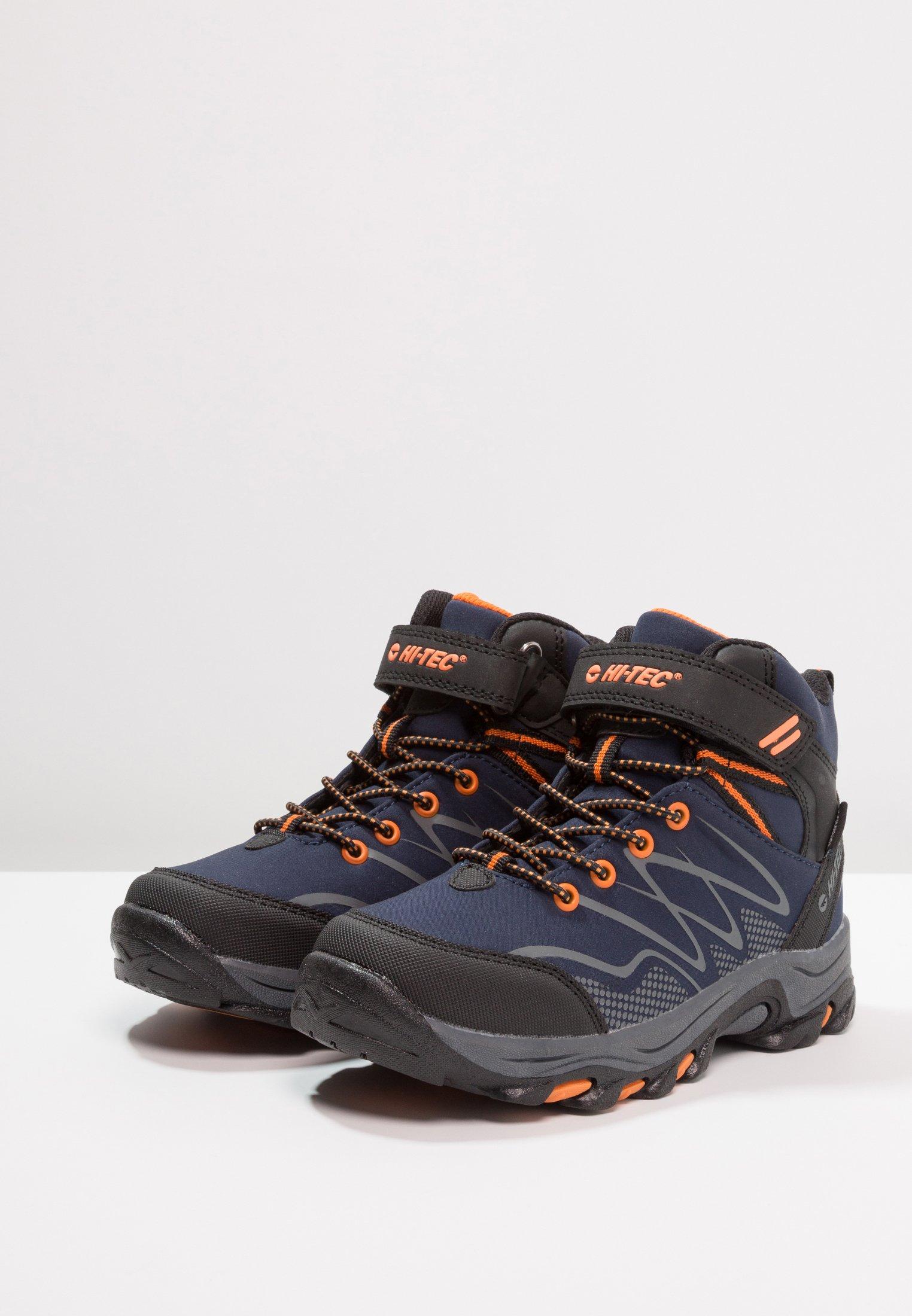 Hi-Tec BLACKOUT MID WP - Obuwie hikingowe - navy/orange