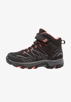 BLACKOUT MID WP  - Hiking shoes - black/pink