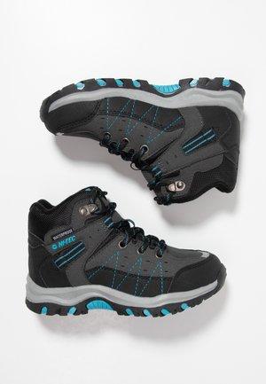 SHIELD WP - Hiking shoes - dark grey/black/lake blue