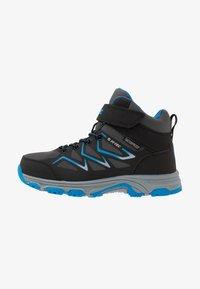 Hi-Tec - TRIO WP - Hiking shoes - dark grey/black/lake blue - 1