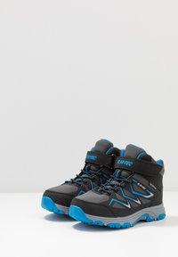 Hi-Tec - TRIO WP - Hiking shoes - dark grey/black/lake blue - 3
