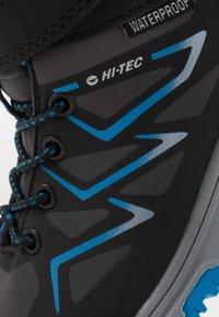Hi-Tec - TRIO WP - Hiking shoes - dark grey/black/lake blue - 2