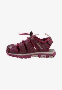 Hi-Tec - COVE - Walking sandals - grape wine/amaranth/boysenberry - 1