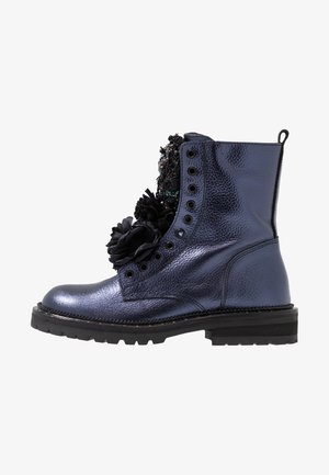 Classic ankle boots - dark blue metallic