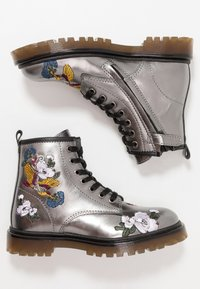 Hip - Lace-up ankle boots - dark silver - 0