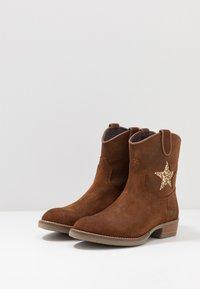 Hip - Cowboy/biker ankle boot - mid brown - 3