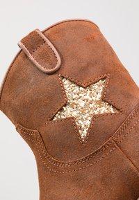 Hip - Cowboy/biker ankle boot - mid brown - 2