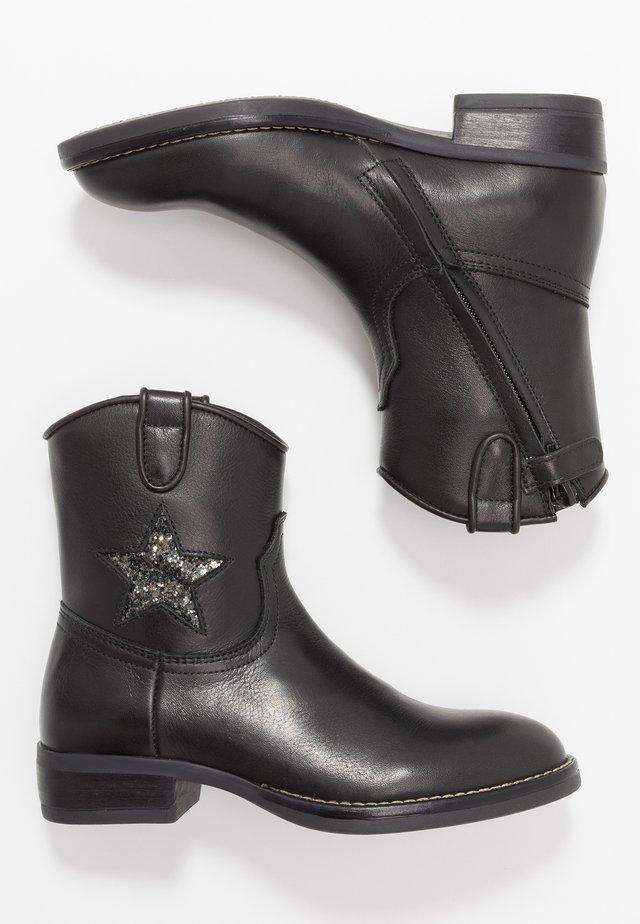 Cowboy-/Bikerstiefelette - black