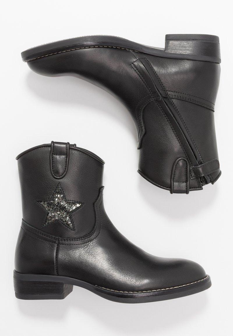 Hip - Cowboy/biker ankle boot - black