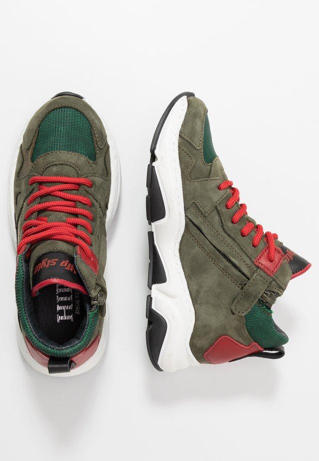 Sneaker high - green