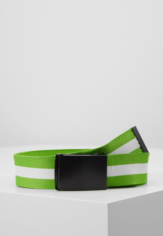 COATED BUCKLE BELT - Vyö - black/neon green