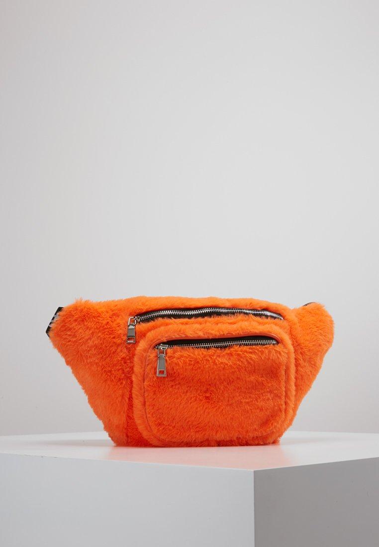 Hikari - FURRY BUM BAG  - Bum bag - orange