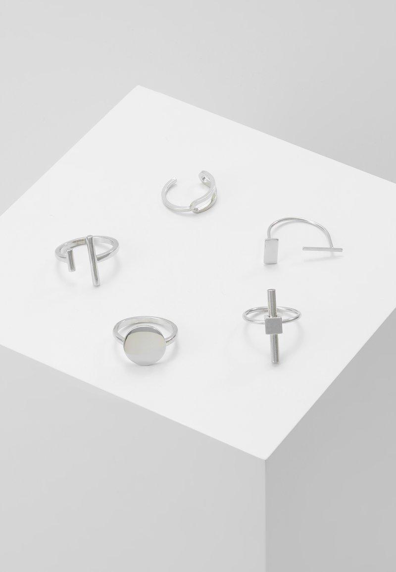 Hikari - INDUSTRIAL 5 PACK - Prsten - silver-coloured