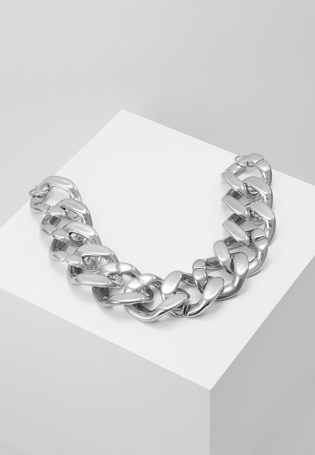 OVERSIZED CHAIN - Necklace - silver-coloured