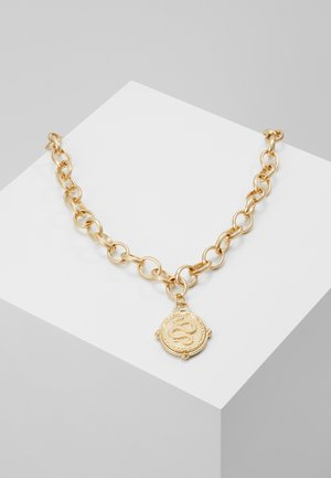 MEDALLION NECKLACE - Halsband - gold-coloured