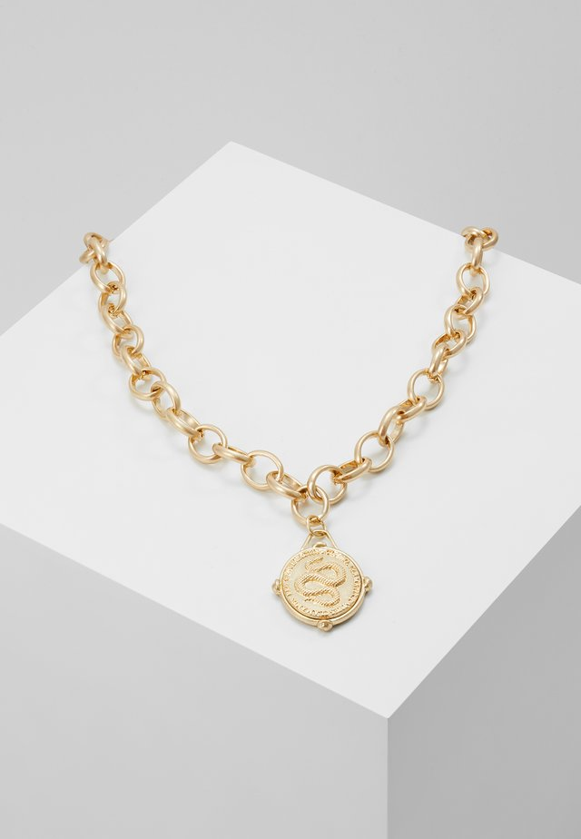 MEDALLION NECKLACE - Ketting - gold-coloured