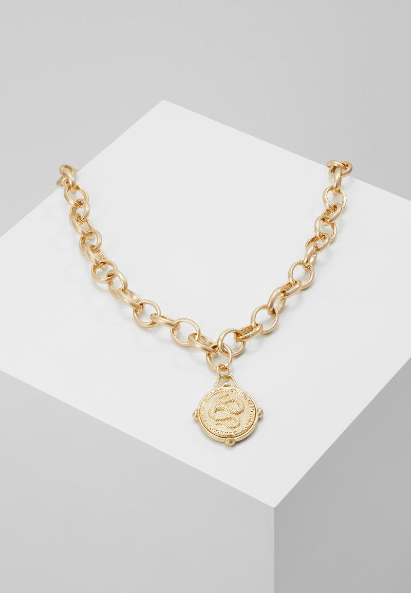 Hikari - MEDALLION NECKLACE - Necklace - gold-coloured