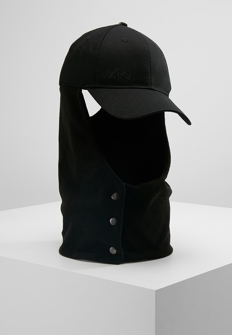 Hikari - BASEBALL CAP WITH SCARF - Sjaal - black
