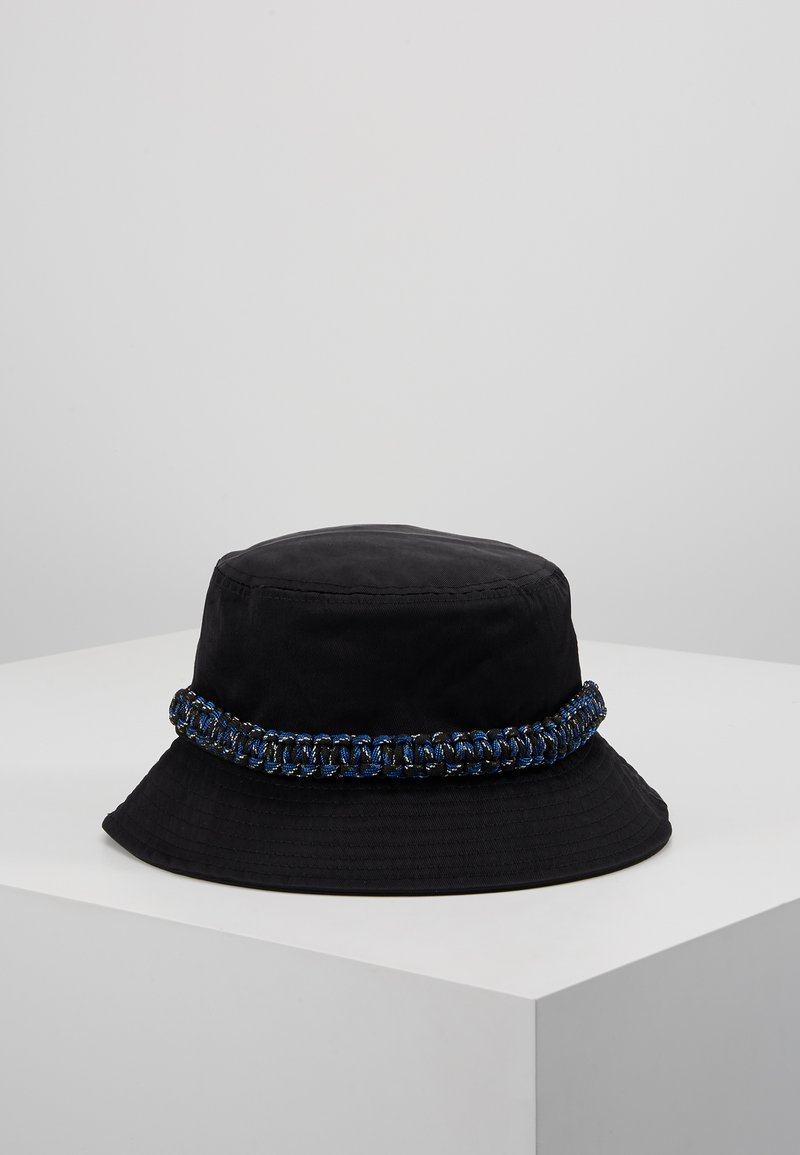Hikari - ROPE TRIM BUCKET HAT - Chapeau - black