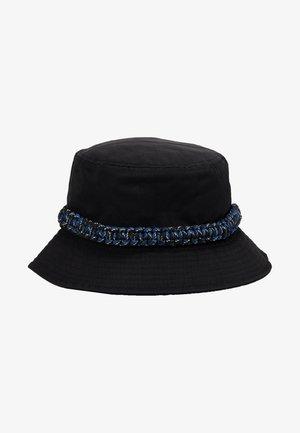 ROPE TRIM BUCKET HAT - Hat - black