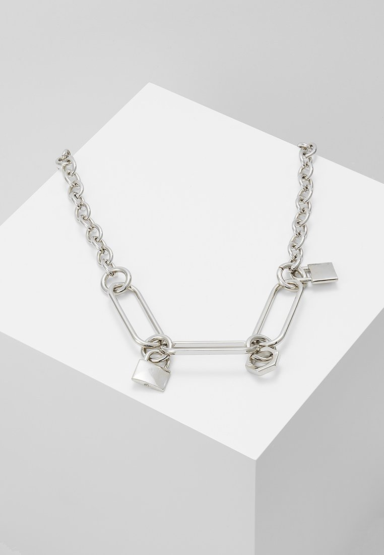 Hikari - CURB CHAIN WITH PADLOCK - Collar - silver-coloured