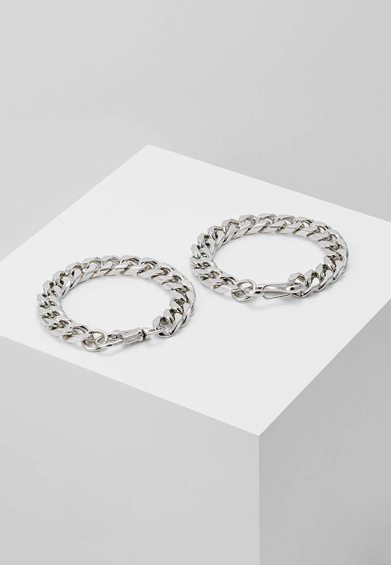 Hikari - THICK 2 ROW 2 PACK - Pulsera - silver-coloured