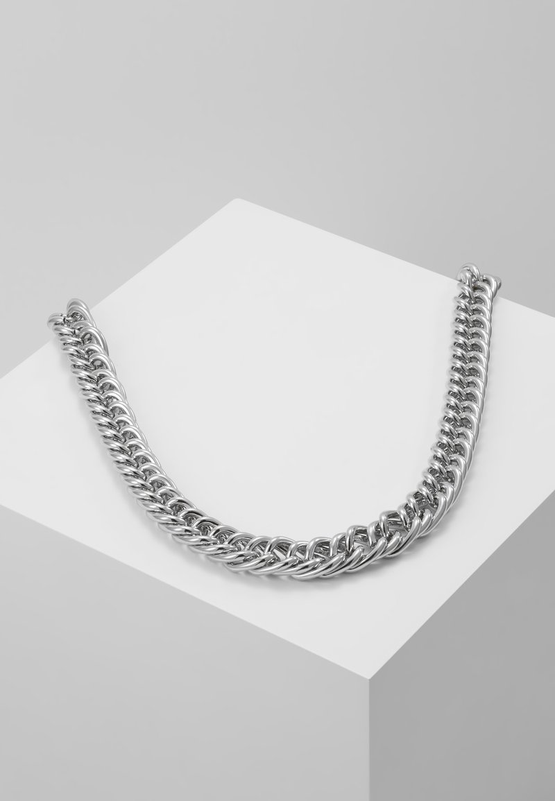 Hikari - THICK CHAIN - Necklace - silver-coloured