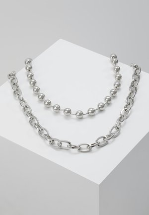 BALL CHAIN 2 PACK - Halsband - silver-coloured